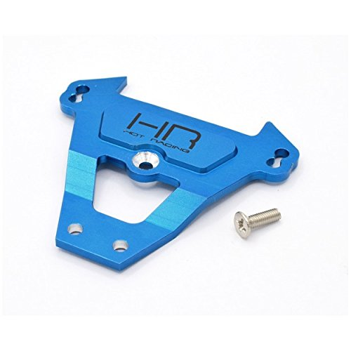 Hot Racing RVO12A06 Blue Aluminum. Front Bulkhead Tie Bar