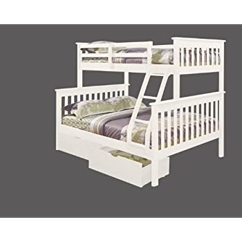 Amazon Com Twin Over Full Mission Bunk Bed With Drawers