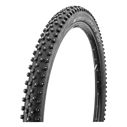 (Schwalbe Ice Spiker Pro 67TPI 35-55PSI Folding Winte Tubeless Ready Snakeskin Bike Tires, 26x2.35, Black)