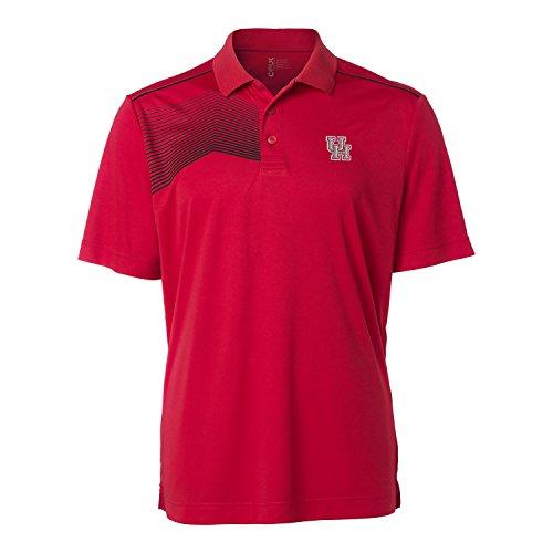 (NCAA Houston Cougars Men's Glen Acres Polo, Red, Medium)