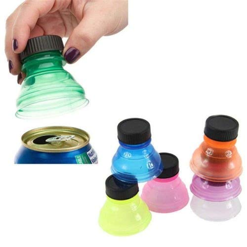2 Pack Soda Can Savers Reusable Pop Drink Covers Lid Protector Spill Free Bottle -