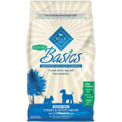 Blue Buffalo Basics Grain Free Turkey and Potato Recipe Adult Dry Dog Food, 11-Pound, My Pet Supplies