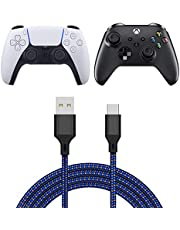 Charging Cable Compatible with Xbox Series X/Series S Controller, Fast Charging USB Type C Charger Cord Compatible with Sony PS5 Dualsense Controllers/Switch/Switch Lite- 16.4ft-Bule