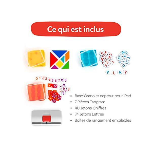 Osmo Genius 901-00045 - Cofanetto completo (versione francese) - 5 mondi di giochi da 6 a 10 anni - Risoluzione di problemi e creatività, scienze, ingegneria, matematica (base iPad inclusa), 901-00045 6 spesavip