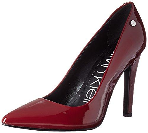 Calvin Klein Women's Brady Pump, Red Rock Patent, 7