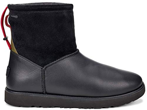 (UGG Mens Classic Toggle Waterproof Rain Boot Black Size)