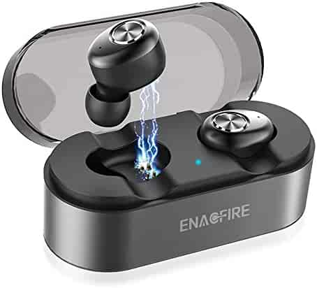 Wireless Earbuds, ENACFIRE E18 Latest Bluetooth 5.0 True Wireless Bluetooth Earbuds 15H Playtime 3D Stereo Sound Wireless Headphones, Built-in Microphone