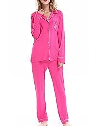 Women's Sleepwear Long Sleeves Pajama Set With Pants by Nora Twips(XS-XL)