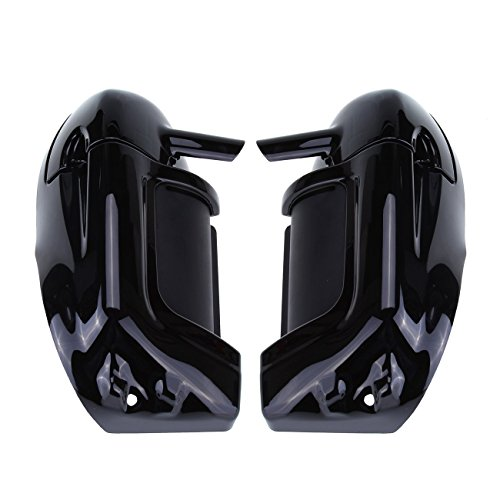 - Ambienceo Painted Leg Fairing Set Kit Lower Vent Vented For Harley Electra Glide Road King Black Finish