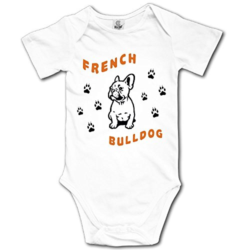 Kmeiqufan French Bulldog Bodysuits Clothing for Kids Boys Girls