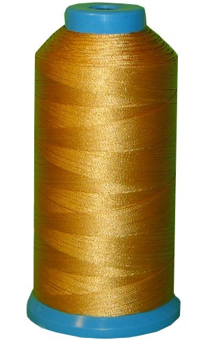 Item4ever® Yellow Gold Bonded Nylon Sewing Thread #69 T70 1500 Yard for Outdoor, Leather, ()