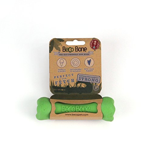 BECO PETS Becobone S Green Biodegradable 100% Natural Pet Animal Dog Toy