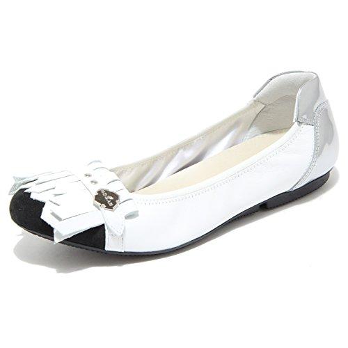 8023I ballerine donna nere bianche HOGAN wrap 144 frange scarpe shoeswomen bianco/nero