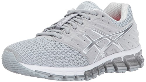 ASICS Womens Gel-Quantum 180 2 Running Shoe, Mid Grey/White/Silver, 9.5 Medium US