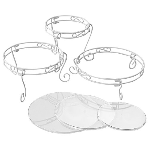 Wilton 307-352 White Scrolled Treat 15PC CAKE DISPLAY SET ()