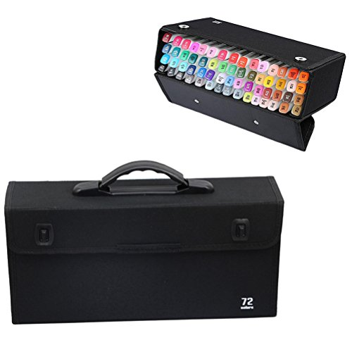 Samaz 36/48/60/72/120 Piece Art Marker Carrying Case Bag - Prismacolor Copic Markers