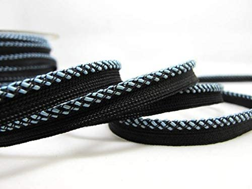 Utini 5 Yards 3//8 Inch Black and Blue Braided Piping Lip Cord Trim Pillow Cushion Trim Upholstery Edging Trim Sewing Supplies