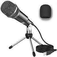 NIERBO Micrófono USB 2.0 Ideal para videollamadas o clases online, Micrófono de Condensador USB Plug & Play Home Studio…