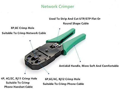 No-branded Network Tester Portable LAN Network Repair Tool Kit Utp Cable Tester Plier Crimp Crimper Plug Clamp PC 14pcs/set ZHQHYQHHX