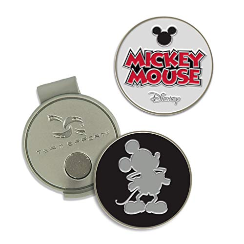 Team Effort Disney Mickey Mouse Golf Hat Clip & 2 Ball Markers
