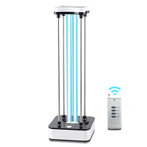 36W UV Light Ultraviolet Germicidal Light 110V Quartz Lamp with Ozone Kills 99.9% of Bacteria Mold Germ Viruses Effectively -with 15s Delay Time Remote Control for Living Area Shipped from USA