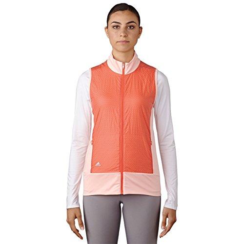 adidas Golf Women's Technical Wind Vest, Haze Coral, Large