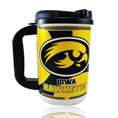 - Whirley University of Iowa Hawkeyes Thermo Insulated Travel Mug 20oz | for Hot or Cold Drinks | for Coffee, Tea, Beer & More | BPA Free