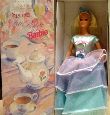Special Edition Spring Tea Party Barbie, Blonde, Avon Exclusive