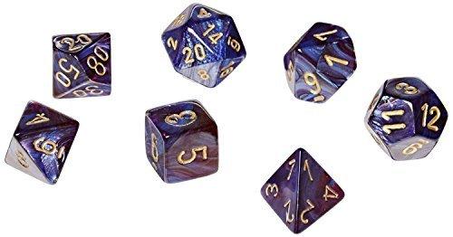 Scarab Jade Polyhedral 7 Die Set, Gold by Chessex