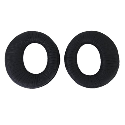 iParaAiluRy New Replacement Earpads Ear Pads Cushions for Sony MDR-RF970R RF970RK RF925R RF925RK Headphone, elastic sponge and PU leather Black