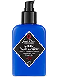 Jack Black - Double-Duty Face Moisturizer broad Spectrum SPF 20 sunscreen with Blue Algae extract and Sea Parsley, 3.3 Fl Oz