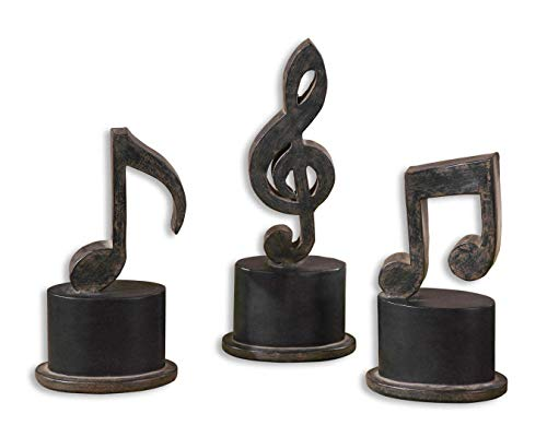 l Note Figurine Hand Forged Metal Sculptures ()