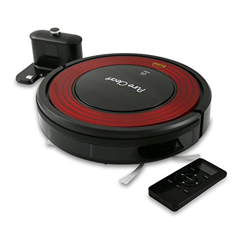 PureClean Robot Vacuum Cleaner with Programmable Self Activation and Automatic Charge Dock - Robotic Auto Home Cleaning for Clean Carpet Hardwood Floor - HEPA Pet Hair & Allergies Friendly