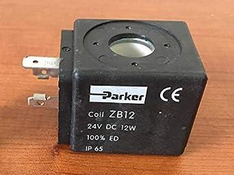 Bobina electroválvula Parker 24 VDC ZB12 12 W IP65-304020 Parker artículo en chisko it:1U40