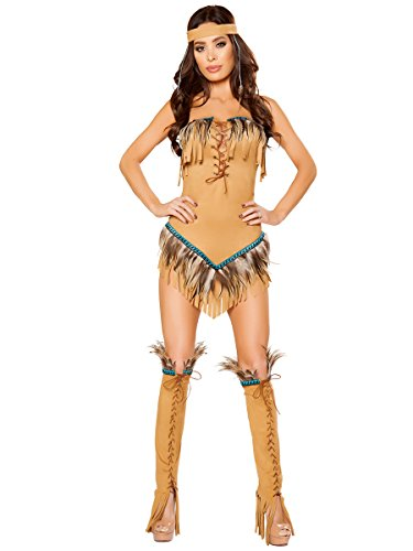 Native American Seductress Costume - Medium - Dress (Pocahontas Costume Shoes)