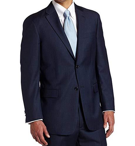 Tommy Hilfiger Mens 2 Button Side Vent Trim Fit 100% Wool Suit Separate Coat,  Blue, 42 Long
