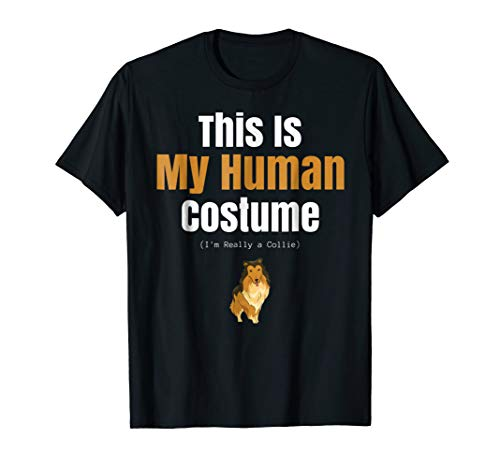 Funny Collie Dog Halloween T Shirt for Human Costume Parties -