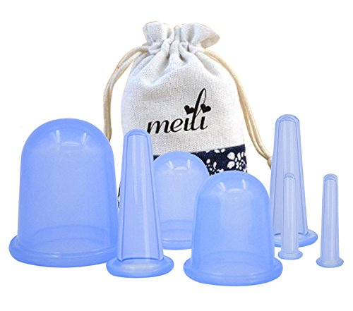 MEILI Silicone Facial & Body Cupping Therapy Suction Cup Set Of 7pcs Kit, Medical Silicone Massage Cellulite Cups For Pain Relief Relaxation and Cellulite removal?- by MEILI