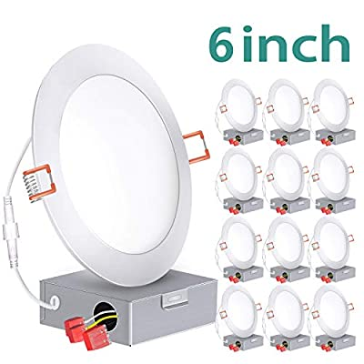 6 inch Slim LED Recessed Lighting with Junction Box
