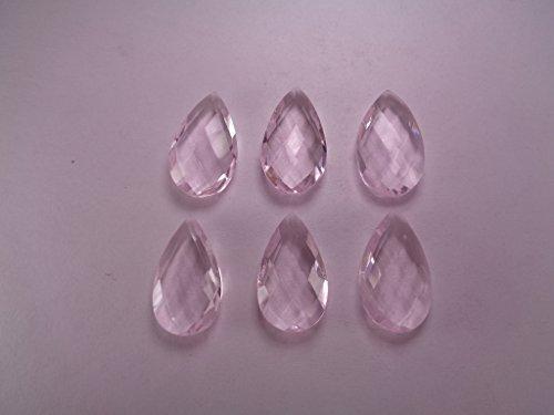 Loose Pink Quartz Faceted Briolettes, 15x25 mm Teardrop Briolette Beads, 2 Pieces Listing (25mm Faceted Briolette Bead)