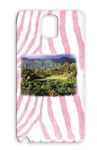 TPU Yellow Case Cover For Sumsang Galaxy Note 3 Golf Palm Trees Vacation Sports Golf Course Tropical Sport Travel Paradise Drop Resistant
