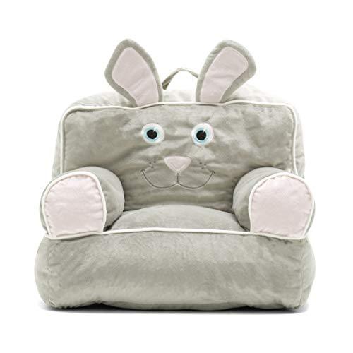 Big Joe 0887674 Bagimal Throne Chairs Bunny Cozy Plush, One Size, Grey