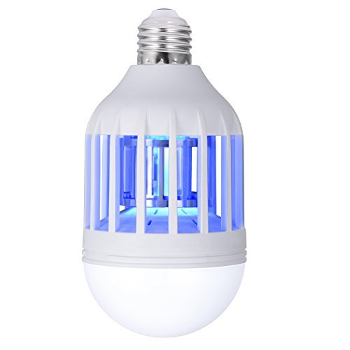 Sunnest Electronic Insect Killer, Bug Zapper Light Bulb, Mosquito Killer Lamp, Mosquito Zapper, Fly Killer, Mosquito Trap, Fits in 110v Light Bulb Socket, For Indoor Porch Deck Patio Backyard Garden by SUNNEST