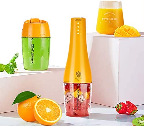 Portable Blender,Smoothie Blender Juicer Cup with 12oz BPA Free Travel Cup and Lid, USB Rechargeable Personal Size Fruit Mixer Single Serve Mini Travel Blender for Sports, Outdoor, Office, 100 Watts