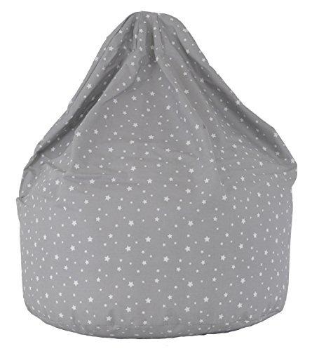 Cotton Grey Stars Bean Bag Large Size BeanLazy