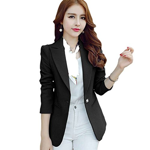 lunghe Business Cappotto Blazer Jacket Yilianda Women regolato nero maniche a BwFqW8vRZ