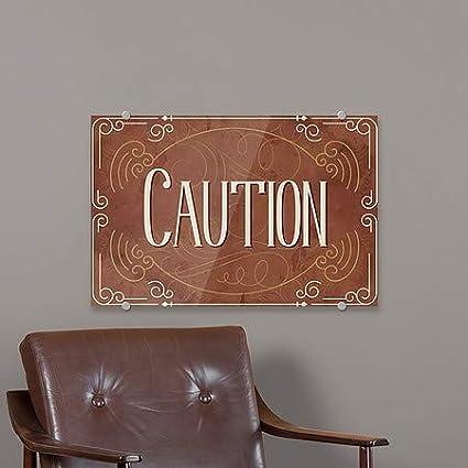 CGSignLab Caution Victorian Card Premium Brushed Aluminum Sign 36x24
