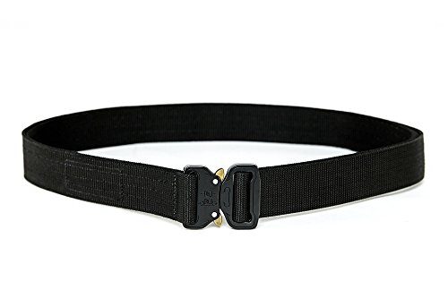 XTAC Quick-Release EDC Belt - Heavy Duty Stiffened 2-Ply Nylon Gun Belt for Concealed Carry CCW Holsters Pouches Military Combat Duty Wilderness Hunting Survival from XTAC