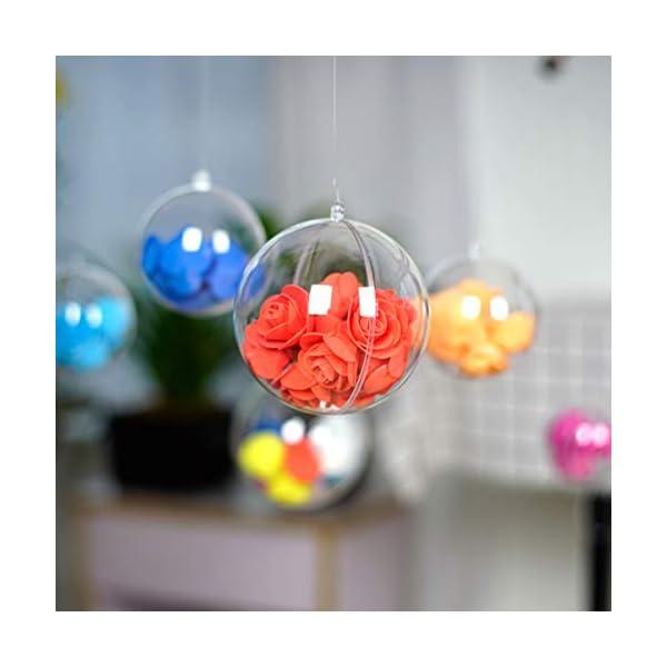 Toyvian 5 Palle di Natale Trasparenti in plastica, 10 cm, da riempire, per Natale, Inverno, plastica, Trasparente, 5 Pezzi 7 spesavip