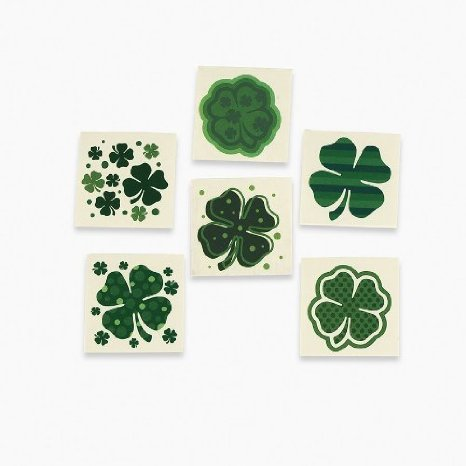 Fun Express Shamrock Patterned Tattoos (6 Dozen) (Unique Costume)